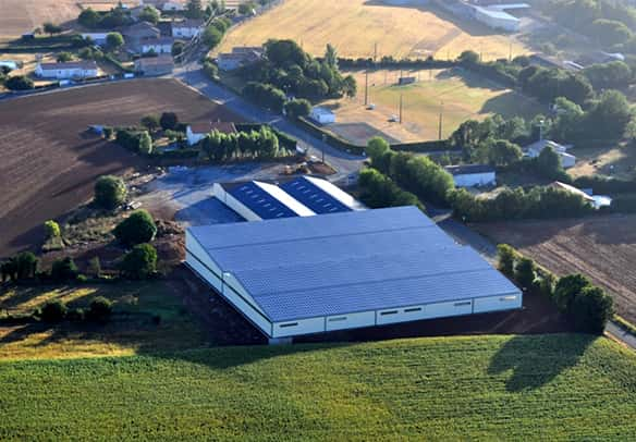 Roof mounted photovoltaic power plants